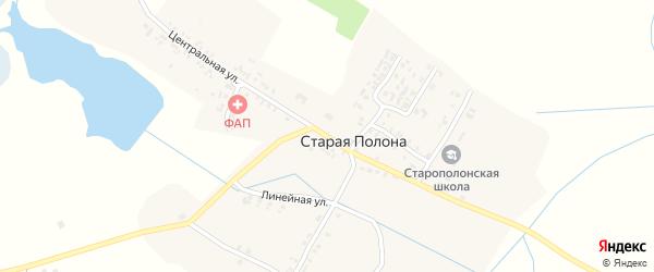 Центральная улица на карте деревни Старая Полона с номерами домов
