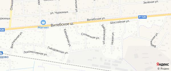 Хвойная улица на карте Смоленска с номерами домов