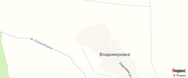 Парковая улица на карте поселка Владимировки с номерами домов