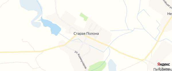 Карта деревни Старая Полона в Брянской области с улицами и номерами домов