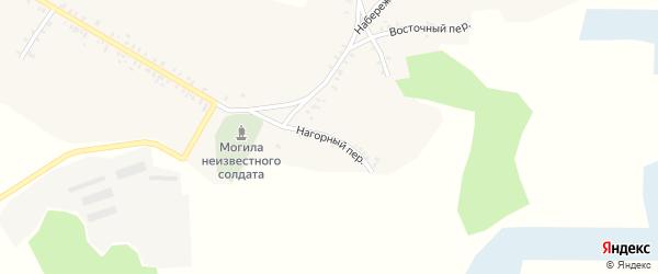 Нагорный переулок на карте села Смяльч с номерами домов