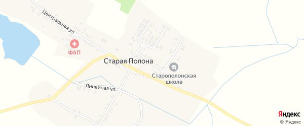 Школьная улица на карте деревни Старая Полона с номерами домов