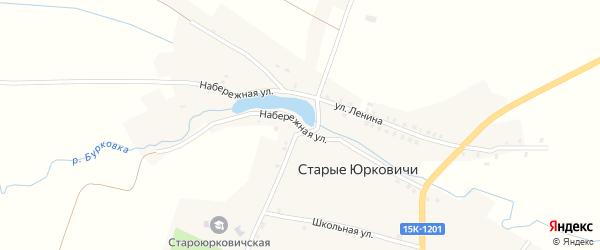 Набережная улица на карте села Старые Юрковичи с номерами домов