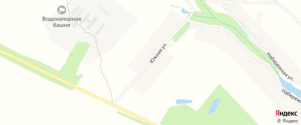 Южная улица на карте села Большие Щербиничи с номерами домов