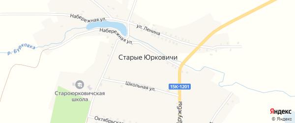 Пролетарская улица на карте села Старые Юрковичи с номерами домов