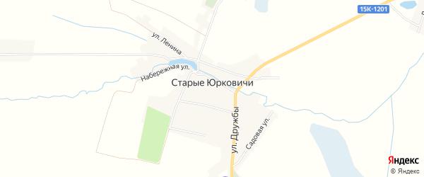 Карта села Старые Юрковичи в Брянской области с улицами и номерами домов