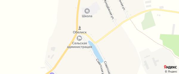 Советская улица на карте села Новые Юрковичи с номерами домов