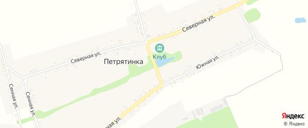 Первомайская улица на карте села Петрятинки с номерами домов