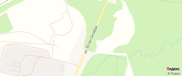 Улица 50 лет Октября на карте села Деменки с номерами домов