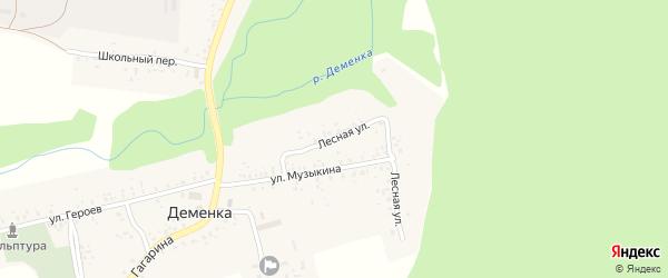 Лесная улица на карте села Деменки с номерами домов