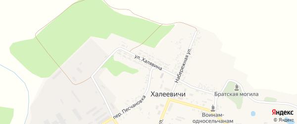 Улица Халявина на карте деревни Халеевичи с номерами домов