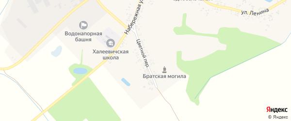 Цветной переулок на карте деревни Халеевичи с номерами домов
