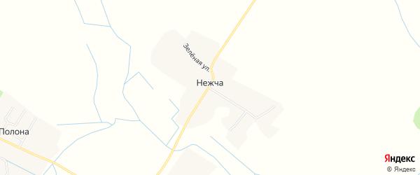 Карта деревни Нежча в Брянской области с улицами и номерами домов