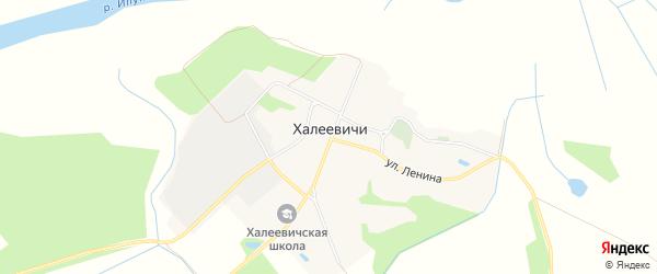 Карта деревни Халеевичи в Брянской области с улицами и номерами домов