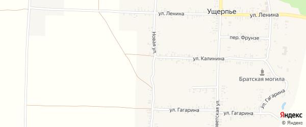 Новая улица на карте села Ущерпье с номерами домов