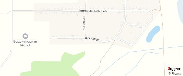Южная улица на карте села Ущерпье с номерами домов