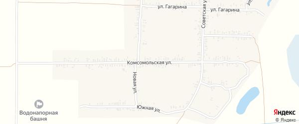 Комсомольская улица на карте села Ущерпье с номерами домов