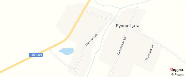 Луговая улица на карте деревни Рудни Цаты с номерами домов