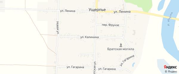 Улица Калинина на карте села Ущерпье с номерами домов