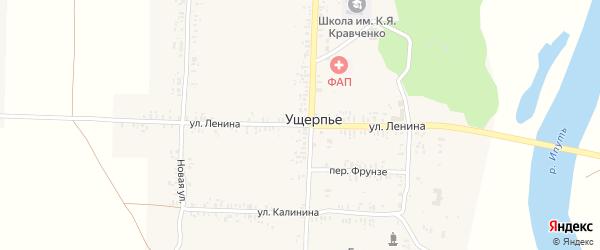 Улица Ленина на карте села Ущерпье с номерами домов