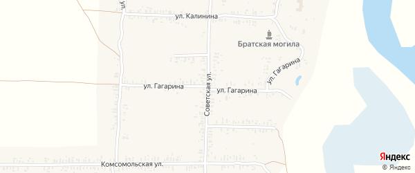Улица Гагарина на карте села Ущерпье с номерами домов