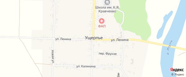 Советская улица на карте села Ущерпье с номерами домов