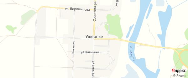 Карта села Ущерпье в Брянской области с улицами и номерами домов