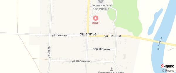 Школьный переулок на карте села Ущерпье с номерами домов