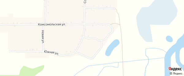 Переулок Пушкина на карте села Ущерпье с номерами домов