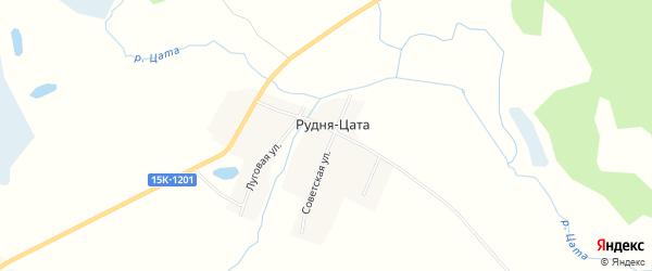 Карта деревни Рудни Цаты в Брянской области с улицами и номерами домов