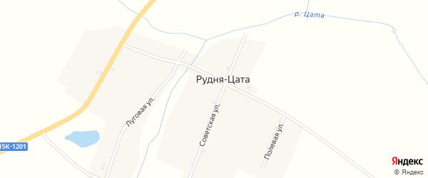 Улица Щорса на карте деревни Рудни Цаты с номерами домов