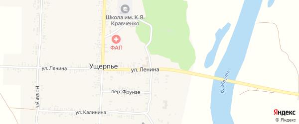 Школьная улица на карте села Ущерпье с номерами домов