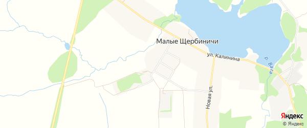 Карта села Малые Щербиничи в Брянской области с улицами и номерами домов