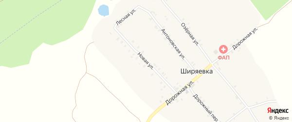 Новая улица на карте села Ширяевка с номерами домов