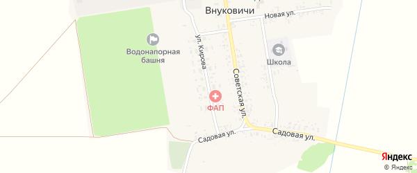 Улица Кирова на карте села Внуковичей с номерами домов