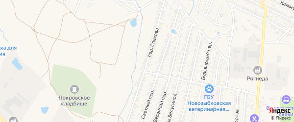 Переулок Спекова на карте Новозыбкова с номерами домов