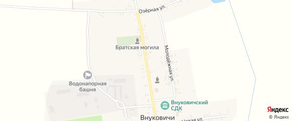 Советская улица на карте села Внуковичей с номерами домов