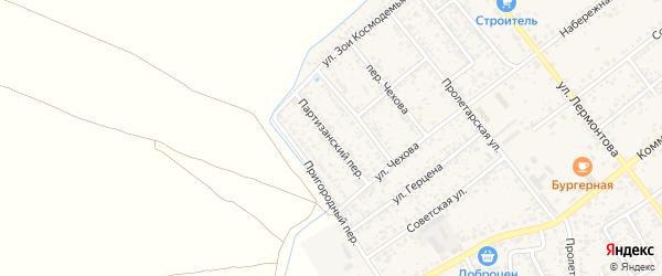 Партизанский переулок на карте Новозыбкова с номерами домов