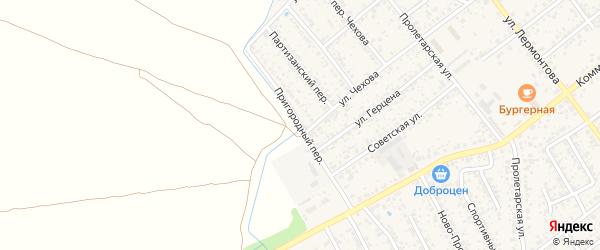 Пригородный переулок на карте Новозыбкова с номерами домов