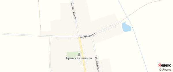 Озерная улица на карте села Внуковичей с номерами домов