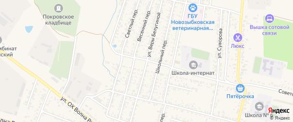 Улица Веры Белугиной на карте Новозыбкова с номерами домов