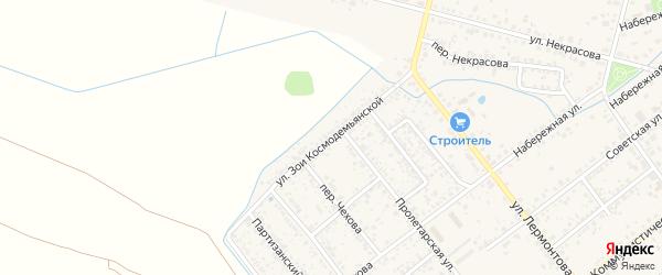 Улица Зои Космодемьянской на карте Новозыбкова с номерами домов