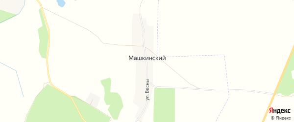 Карта Машкинского поселка в Брянской области с улицами и номерами домов