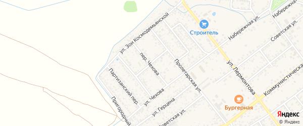 Пролетарский переулок на карте Новозыбкова с номерами домов