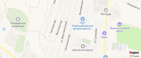 Школьный переулок на карте Новозыбкова с номерами домов