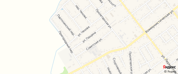 Улица Герцена на карте Новозыбкова с номерами домов