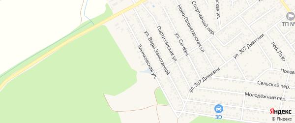 Злынковская улица на карте Новозыбкова с номерами домов