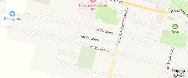 Переулок Гагарина на карте Новозыбкова с номерами домов