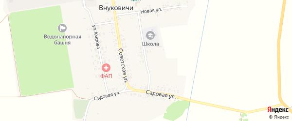 Школьная улица на карте села Внуковичей с номерами домов