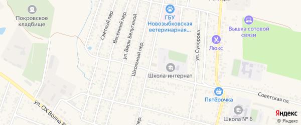 Бульварный переулок на карте Новозыбкова с номерами домов